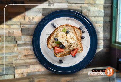 عکس دوربری شده بشقاب صبحانه